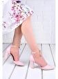 Ayakland Ayakland 137029-1160  9 Cm Topuk Bayan Cilt Sandalet Ayakkabı Pudra